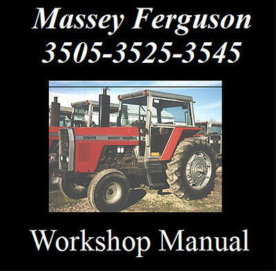 Massey Ferguson 3505, 3525, 3545 Workshop Manual Cd - The Best !!