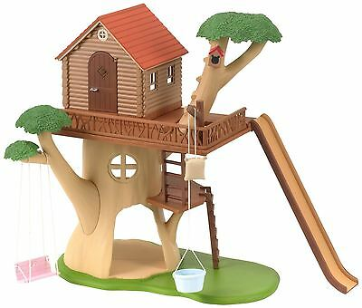 Sylvanian Families Treehouse, Wendy House & Slide Included, NEW