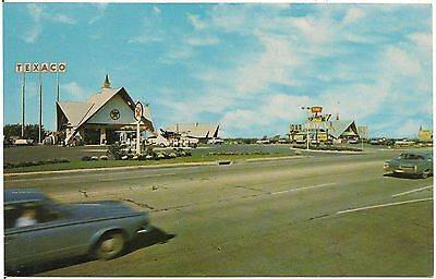 Texaco Station and Restaurant in Northeast PA Postcard