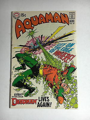 Aquaman #50 VF DC comic 1970 Adams Deadman