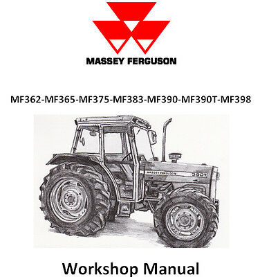 Massey Ferguson 362 365 375 383 390 390T 398 Workshop Manual Cd - The Best !!