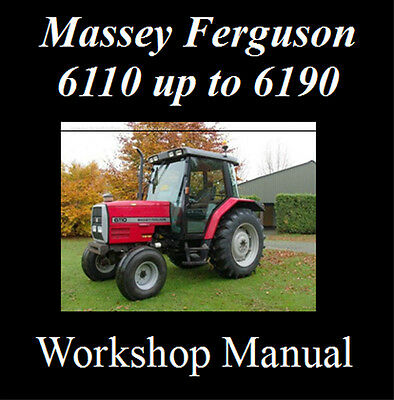 Massey Ferguson 6110 6120 6130 6140 6150 6160 6170 6180 6190 Workshop Manual Cd