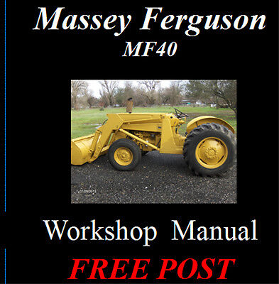 Massey Ferguson Mf 40 Mf40 Tractor Workshop Service Repair Manual On Cd