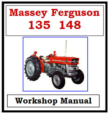 Massey Ferguson Mf135 Mf148 Workshop Service Repair Manual On Cd
