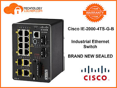 Cisco IE-2000-4TS-G-B Industrial Ethernet Switch BRAND NEW SEALED