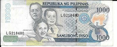 Phillipines  Banknote 1000 Piso 2011
