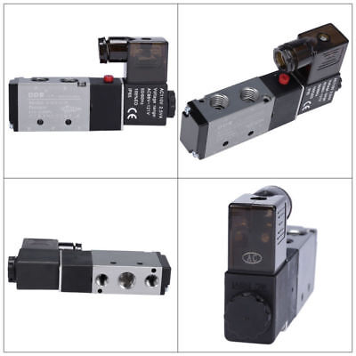 """Directional Control Air Solenoid Valve 110V AC 1/4"""" Pneumatic 4 Way 2 Position"""