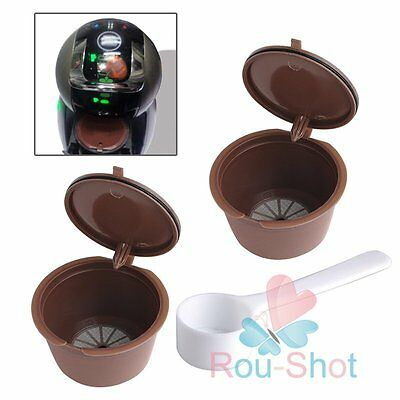 8x Refillable Reusable Coffee Capsules For Dolce Gusto Brewers Refill Cup Filter