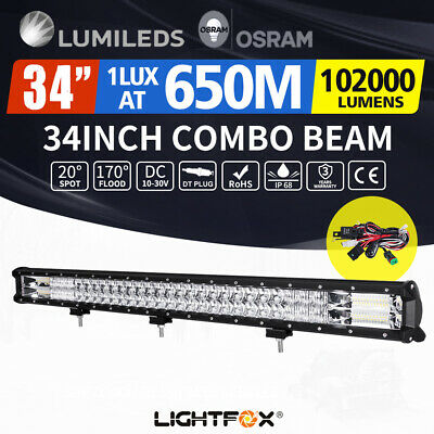34 inch Osram Philips LED Light Bar Spot Flood Combo Offroad Driving 4WD 4x4