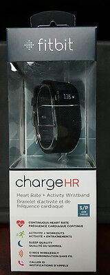 Brand New Sealed Fitbit Charge HR Activity Tracker with Heart Rate Black Small