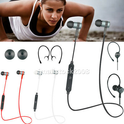 Bluetooth Sport Headphone Stereo Wireless Earphone Headset For iPhone 7 Samsung