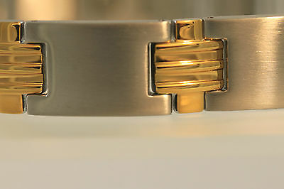 Stainless Steel High Power Two Tone Magnetic Arthrites Pain Tharapy Bracelet