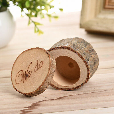 Wedding Ring Bearer Ceremony Box Wood Country Retro Style Ring Box for Wedding