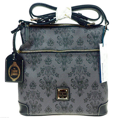 NEW Disney Dooney & Bourke Haunted Mansion Letter Carrier Crossbody Purse Bag