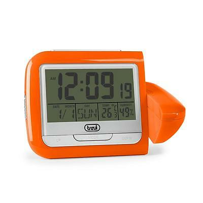 Trevi Pj 3027 Alarm Clock With Weather Display And Time Projection Orange