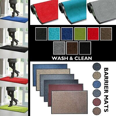 Non Slip Heavy Duty Rubber Barrier Mat Rugs Back Door Hall Large Small Kitchen
