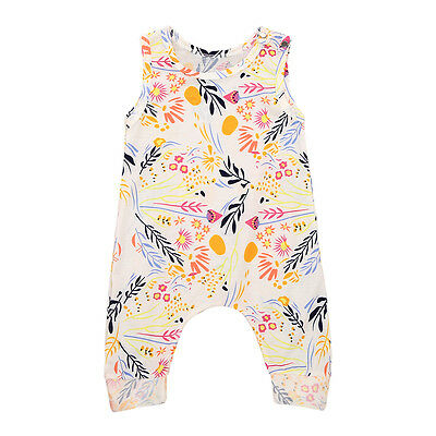Newborn Baby Girls Summer Holiday Romper Jumpsuit Bodysuit Outfits Clothes UT