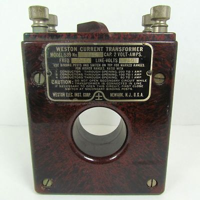 Vintage Weston 539 Number 1719 Current Transformer