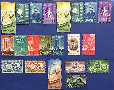 Egypte  Egitto 1958Lot Of 21 Stamps Never Hinged Mnh** Splendid