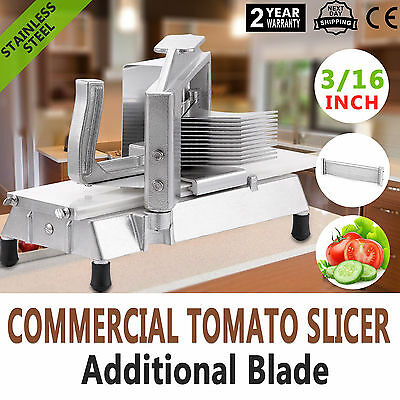 "Commercial Tomato Slicer Cutter 3/16"" Pushing Block Industrial Cutting Machine"