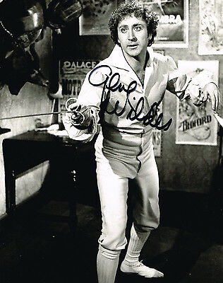 Gene Wilder Willy Wonker Hand Signed Photo Coa (From Uacc) Autograph 2