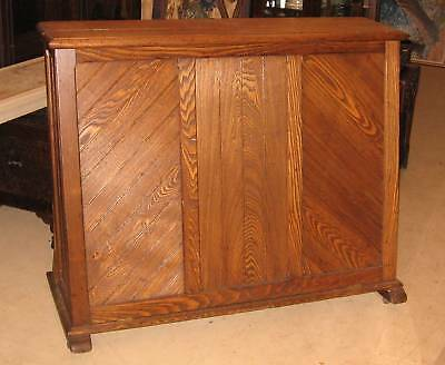 Antique Victorian Eastlake Oak or Chestnut Vertical Print File Cabinet