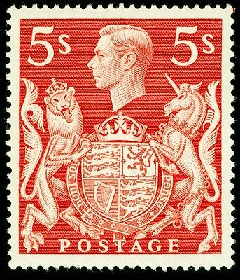 Sg477, 5s red, UNMOUNTED MINT. Cat £20.