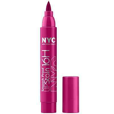 NYC new york color lip stain 16hour smooch proof shade 496 forever fuchsia