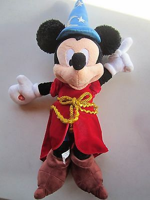 Disney Parks Mickey Mouse Sorcerers Apprentice Plush Toy Light Up Hat 22""