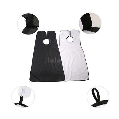 Beard Shaving Apron Gather Cloth Hair Dye Cape with Two Suction Cups Z9D6