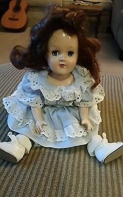 Beautiful Vintage Ideal Toni Doll P-90, Red Hair, + Clothes, Shoes