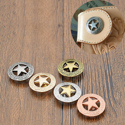 Western Star Conchos DIY Saddle Belt Decor Clothes Accessory Hardware Screw Back