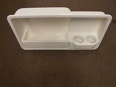OFF WHITE RIGHT SIDE COAMING BOX STORAGE  29 1/8 x 15 3/4 x 8 MARINE BOAT