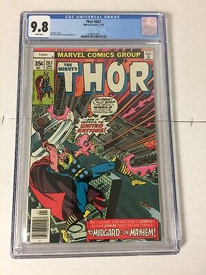 The Mighty Thor 267 Cgc 9.8 White Pages