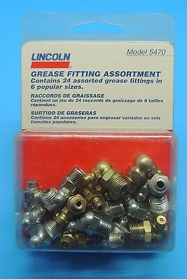 NEW Lincoln Grease 24ea Fitting Assortment 5470 NIP USA
