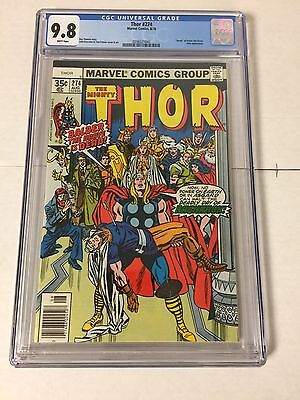 The Mighty Thor 274 Cgc 9.8 White Pages