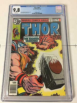 The Mighty Thor 281 Cgc 9.8 White Pages