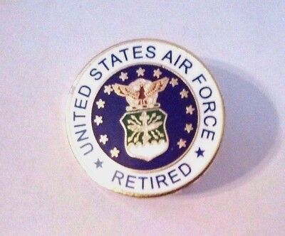 United States Air Force Retired Hat Pin  7/8""