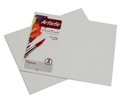 "Artist's Canvas Boards, Rigid Canvas Panels 8"" X 10""  For Acrylic And Oil Paints"