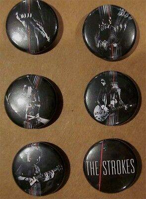 The Strokes set of 6 RARE promo buttons / pins