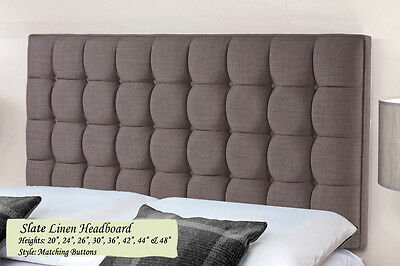 Modern Tufted Cube Linen Deep Buttons Headboards Padded Luxury Home Bedroom New