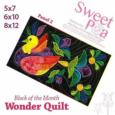 Machine Embroidery Pattern BOM Block of the month wonder quilt block 2