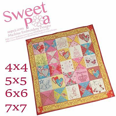 Sweety Pie quilt in the hoop 4x4 5x5 6x6 7x7 machine embroidery design