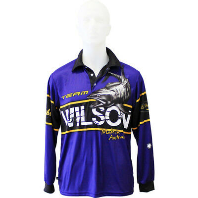 Team Wilson Tournament Long Sleeve Fishing Shirt with Collar - Fishing Jersey