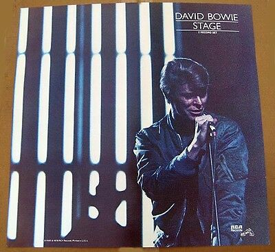 David Bowie 1978 poster MINT CONDITION ........STAGE