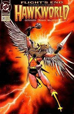 Hawkworld (1990 series) #32 in Near Mint condition. FREE bag/board