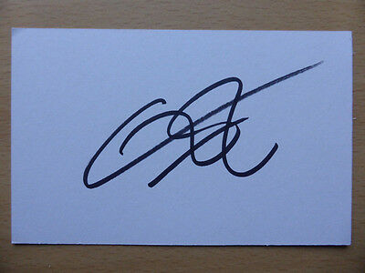 Hand Signed Football Index Cards *****E***** Page 1