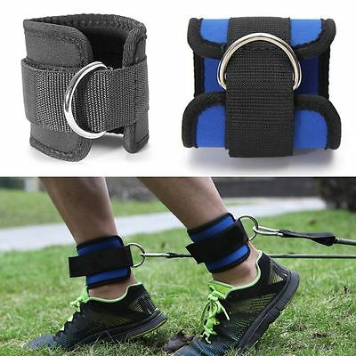 New Fitness Gym Weight Lifting D-ring Multi Cable Ankle Strap Thigh Leg Pulley