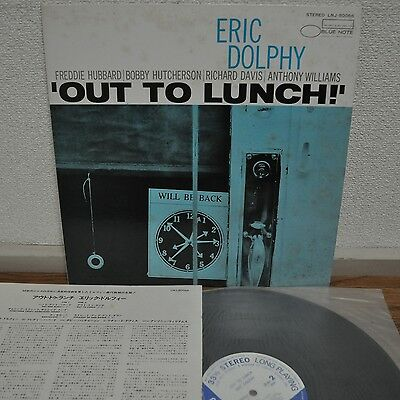 Eric Dolphy Out To Lunch Japan Blue Note LP Toshiba BNJ 71041 Insert