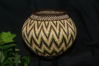 Authentic Panama Rainforest Wounaan Indian Hösig Di Motif Artist Basket 300A20